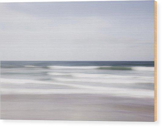Waves Rush Wood Print