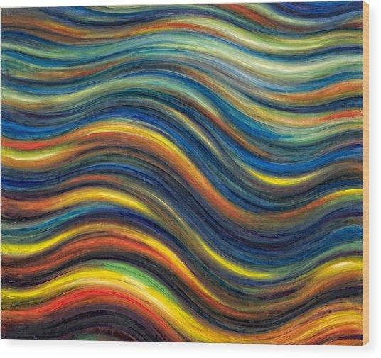Wavescape Wood Print by De Es Schwertberger