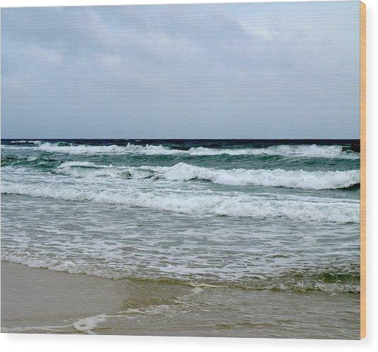 Waving At Pensacola Beach Wood Print by Connie Diane Richards