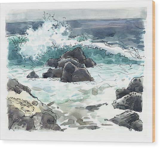 Wawaloli Beach, Hawaii Wood Print