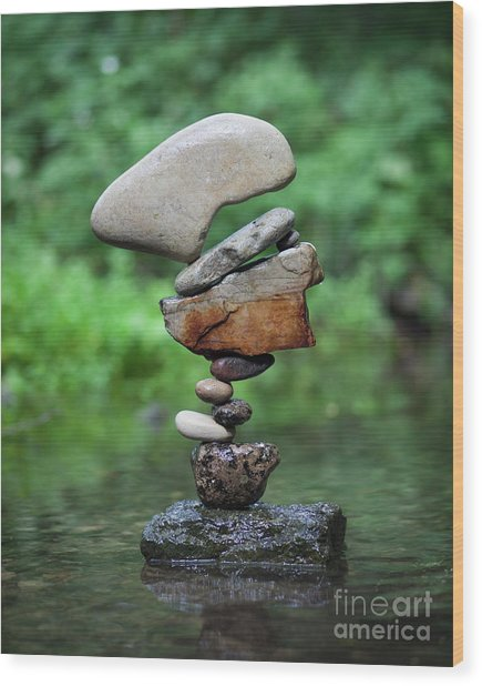 Way Of Zen Wood Print