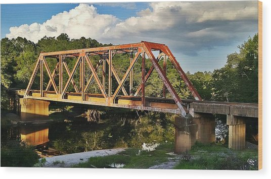 Waycross Trestle Bridge Wood Print