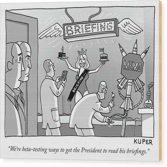 Ways To Get The President To Read His Briefings Wood Print