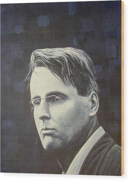 W.b. Yeats Wood Print by Eamon Doyle