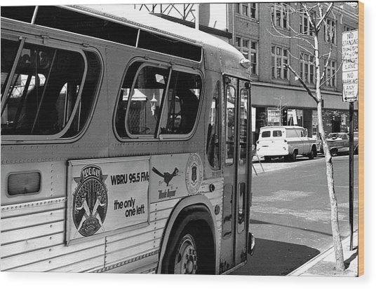Wbru-fm Bus Sign, 1975 Wood Print