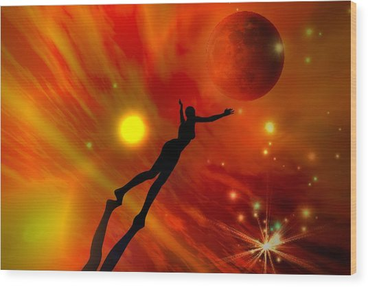 We All Shine On Like The Moon And The Stars And The Sun Wood Print by Shadowlea Is