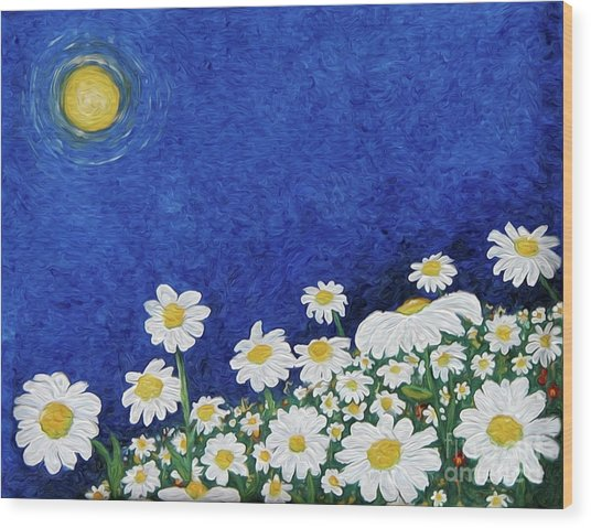 We Are Daisies Wood Print