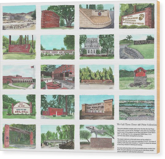 We Call Them Home 4x6 Collection - 24x20 Natural Sized Poster Print Wood Print