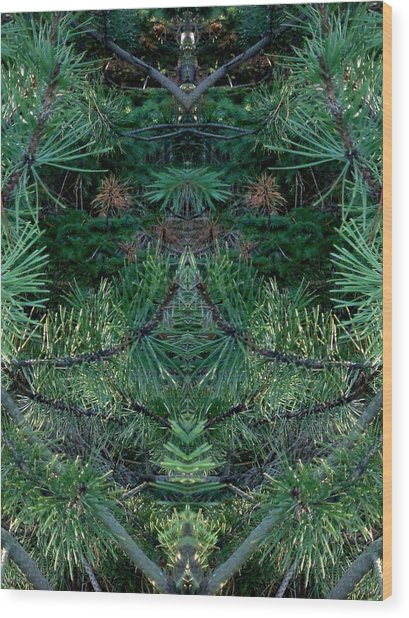 We Live In The Pines Wood Print by Marilynne Bull
