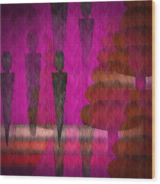 We Stand In The Shadows Wood Print by Terry Mulligan