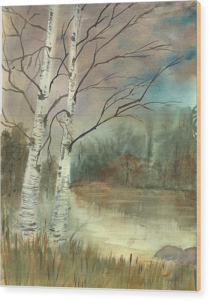 We Two Wood Print by George Markiewicz