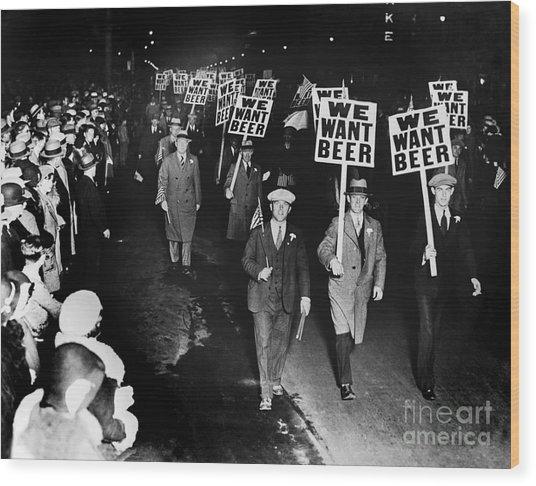 We Want Beer Wood Print
