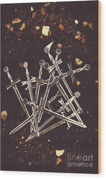 Weaponry Of Ancient War Wood Print