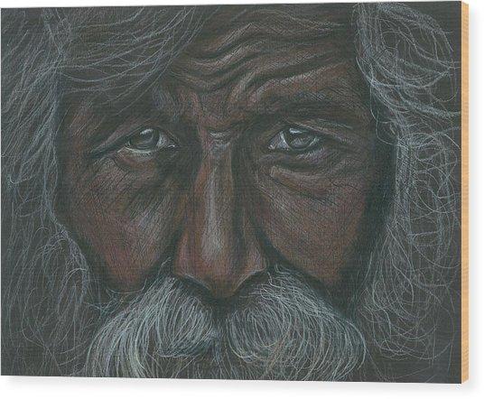 Weathered Aborigine Wood Print