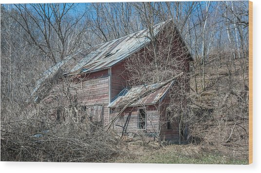 Weathered And Broken Wood Print