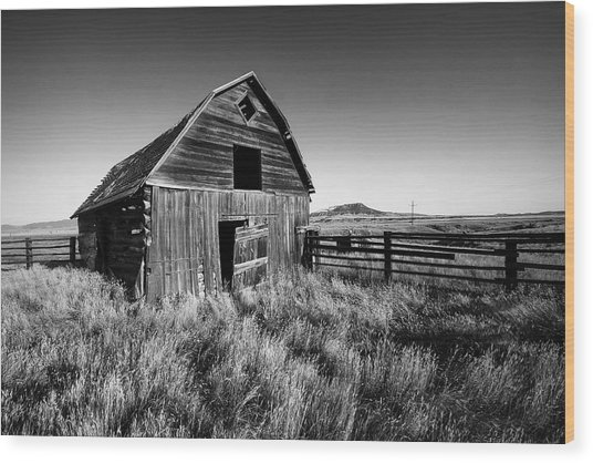 Weathered Barn Wood Print