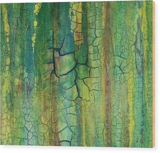 Weathered Moss Wood Print