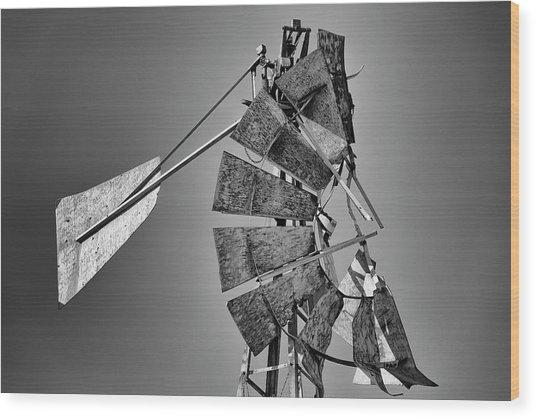 Weathered Vane Wood Print