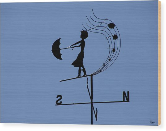 Weathergirl Wood Print