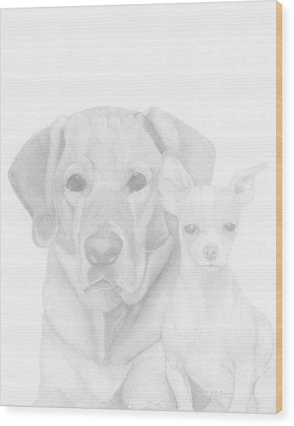Webster And Lulu Wood Print