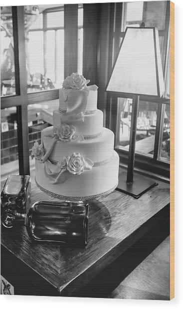 Wedding Cake Bw Series 0956 Wood Print
