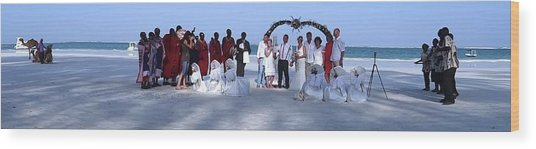 Wedding Complete Panoramic Kenya Beach Wood Print