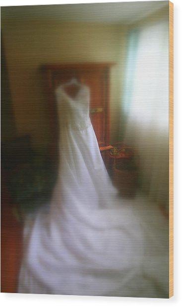Wedding Dress In Waiting Wood Print