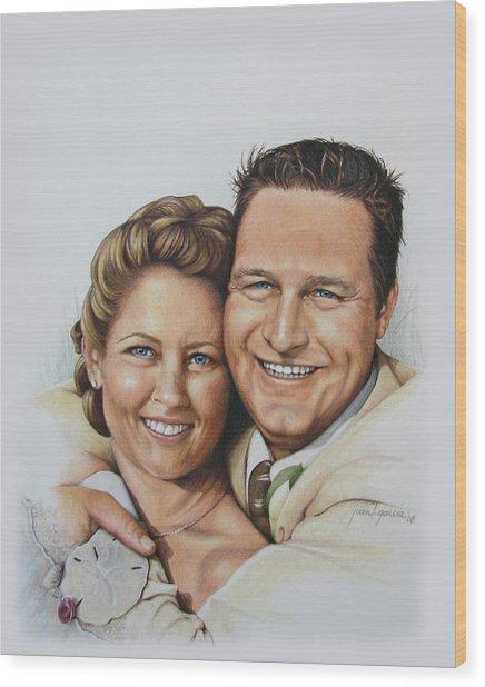 Wedding Portrait Jeremy N Katie Wood Print