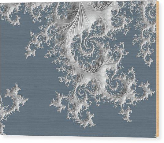 Wood Print featuring the digital art Wedgwood by Susan Maxwell Schmidt