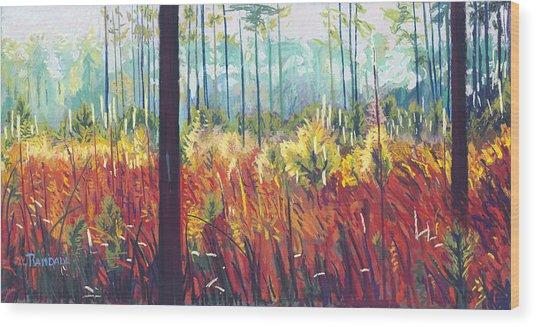 Weeds Wood Print