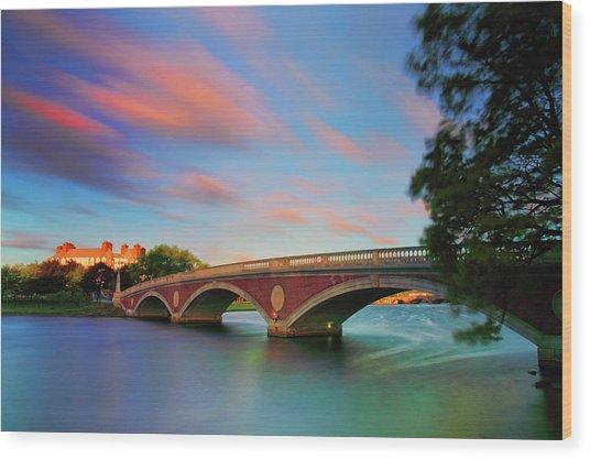 Weeks' Bridge Wood Print