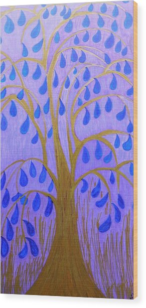 Weeping Tree Wood Print