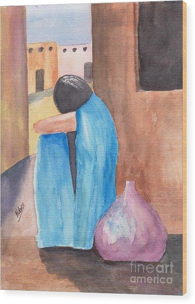 Weeping Woman  Wood Print by Susan Kubes