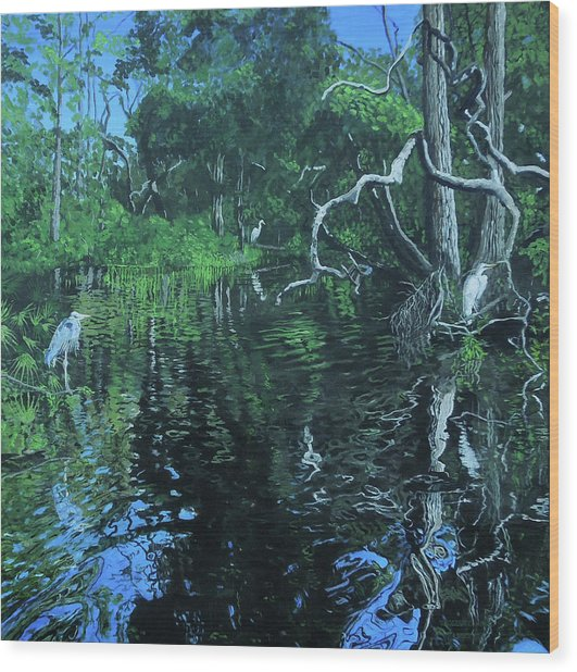 Wekewa River Wood Print