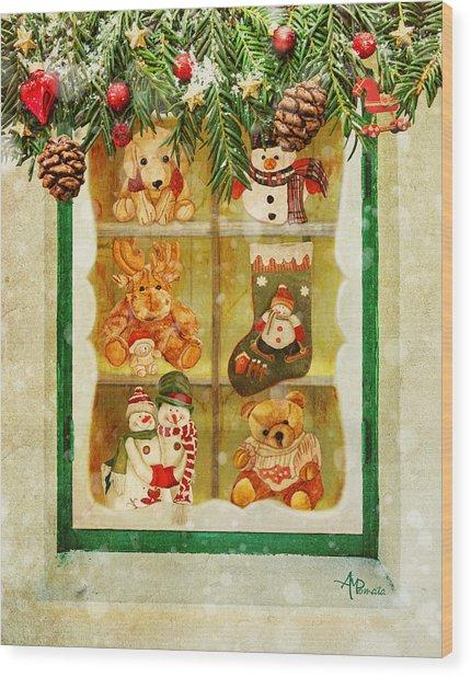 Welcome Christmas Wood Print