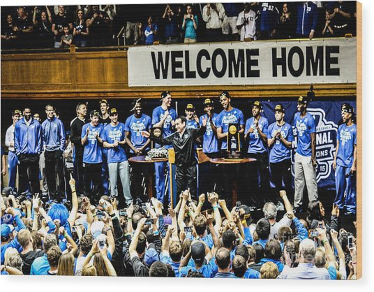 Welcome Home Champs Wood Print
