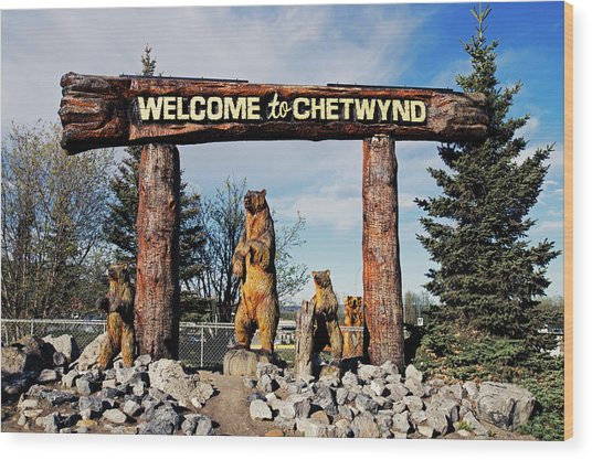 Welcome To Chetwynd Wood Print by Robert Braley