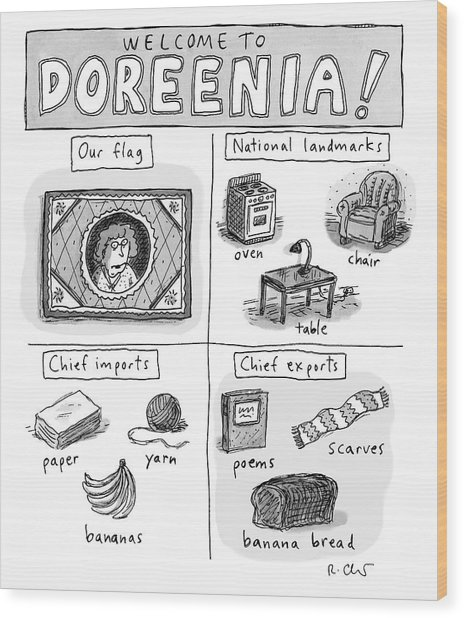 Welcome To Doreenia Wood Print