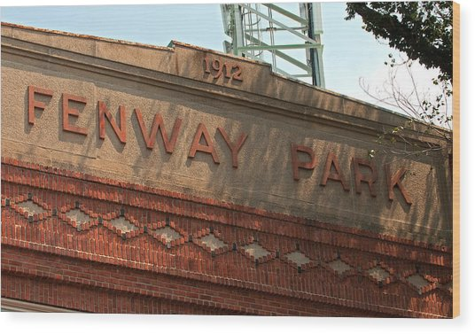 Welcome To Fenway Park Wood Print