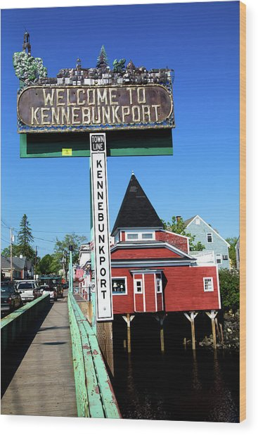 Welcome To Kennebunkport Wood Print