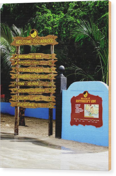 Welcome To Labadee Wood Print