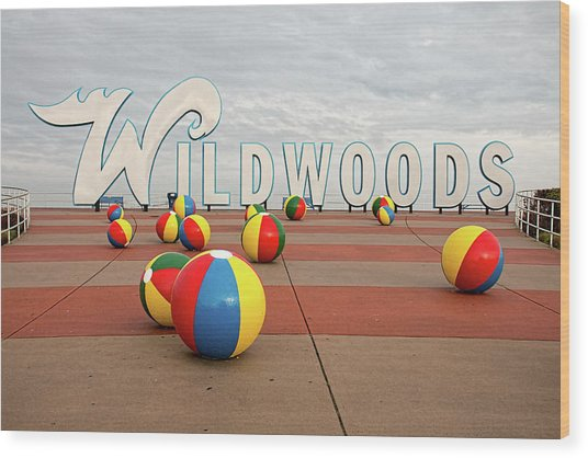 Welcome To The Wildwoods Wood Print