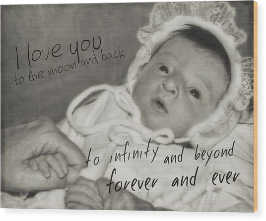 Welcome To The World Quote Wood Print by JAMART Photography
