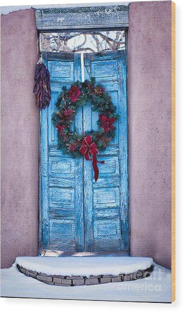 Well Worn Blue Wood Print