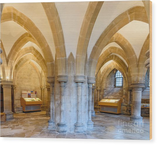 Wells Cathedral Undercroft Wood Print