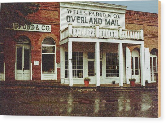 Wells Fargo Ghost Station Wood Print