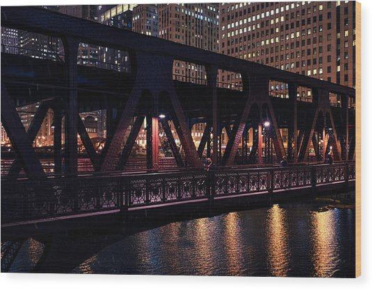 Wells Street Bridge II Wood Print