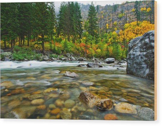 Wenatchee River Wood Print