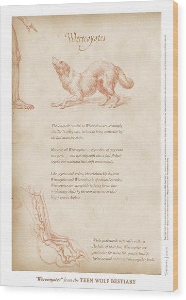 Werecoyotes Wood Print
