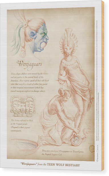Werejaguars Wood Print